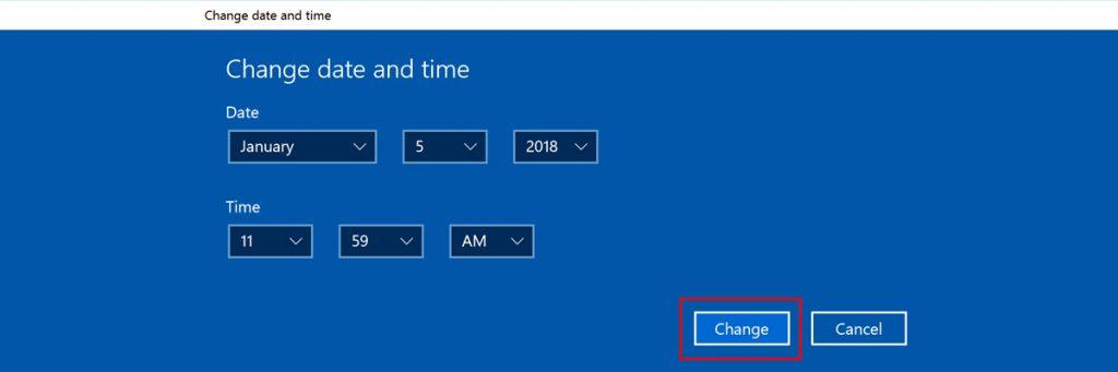 Windows Tarih ve Saat Ayarı